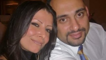 Khristiee Jazairy and her former husband Baha Jazairy.
