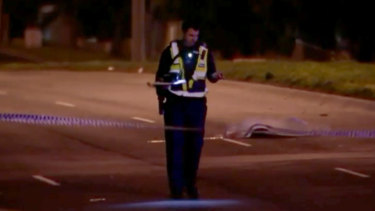 The scene of the pedestrian's death in Reservoir.