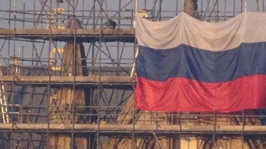 For the local MP, the hanging of a Russian flag in Salisbury, England, was a stupid prank.