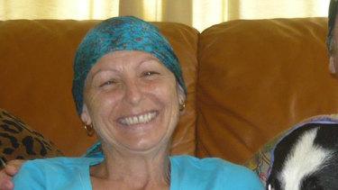 Julie Luezzi after her diagnosis.