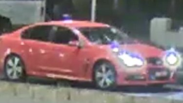 The car rammed during the altercation, which police are hoping to identify.