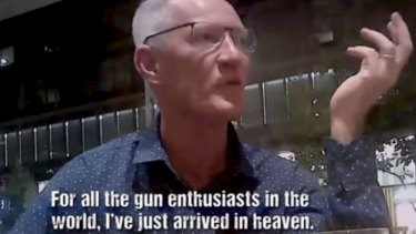 One Nation's Queensland leader Steve Dickson appears in an Al Jazeera video seeking donations from the US pro-gun lobby.