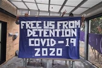 Immigration detainees conducted rooftop protest at the Villawood Detention Centre in April.