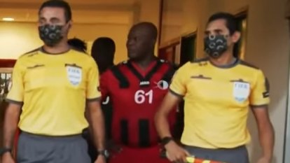 Suriname's vice president inserted himself into a pro soccer match. He's 60.