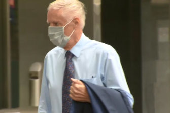 Neil Lennie outside the County Court on Wednesday.