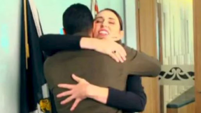 'Do you mind if I give you a hug?': Jacinda Ardern meets Waleed Aly