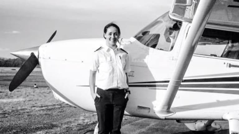 Ms Walker moved to Tasmania to continue her training as a pilot.