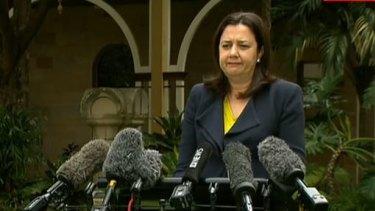 Queensland Premier Annastacia Palaszczuk became emotional during her press conference on Friday.