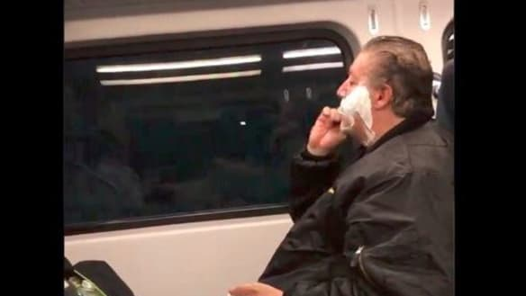 Man caught shaving on train in viral video says don't judge
