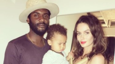 Australian model Nicole Trunfio with musician husband, Gary Clark Jr, and their son, Zion.