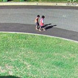The boys were captured on CCTV walking towards the river on Monday afternoon.
