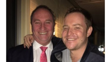Former deputy prime minister Barnaby Joyce with Nationals official turned lobbyist Michael Kauter.