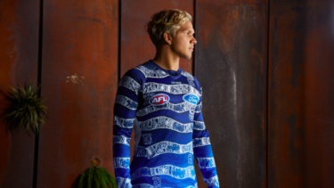 Geelong Football Club's Indigenous guernsey designed by Quinton Narkle.
