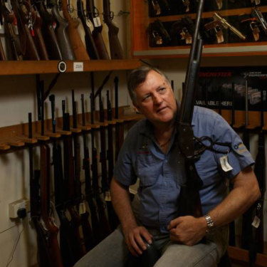 FOR SALE: Thornton gun shop owner Chris Barrett said shooting sports were growing in popularity and he was not surprised at the significant increase in gun ownership in the Hunter.