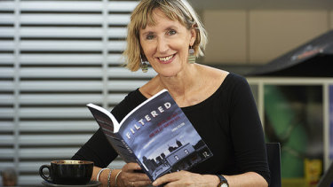 Dr Emma Felton with her recently published book Filtered: Coffee, the cafe and the 21st century City.
