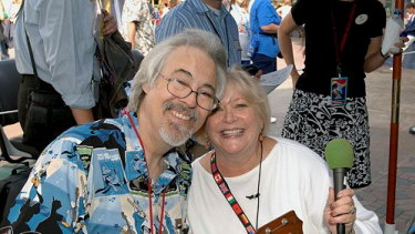 Husband and wife team: The voice of Mickey, Wayne Allwine, and Russi Taylor, the voice of Minnie.