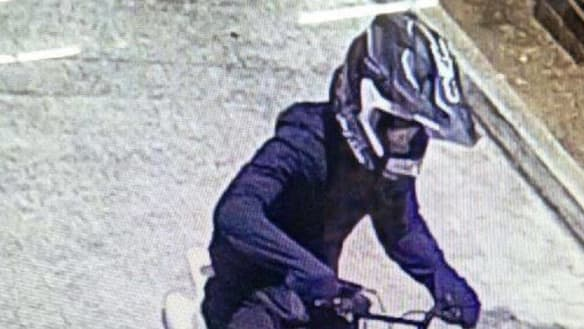 Police on murder case ask, have you seen this mini-motorcycle rider?