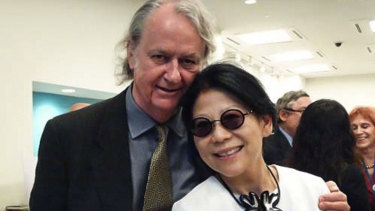 Sheri Yan and her husband Roger Uren.