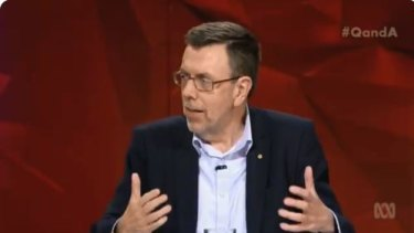Columnist Greg Sheridan appeared on Q&A on Monday.