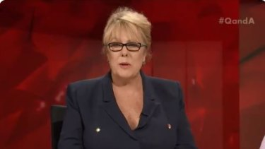 Huh? Liberal vice-president Teena McQueen addresses the ABC's Q&A
