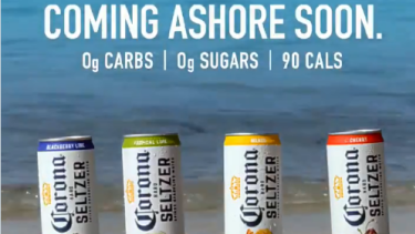 Corona posted this ad on Twitter on February 25.