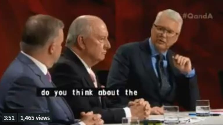 Alan Jones said he was 'comfortable' with his role in the Liberal party implosion.