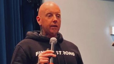 Motivational speaker John McMahon allegedly breached restrictions.