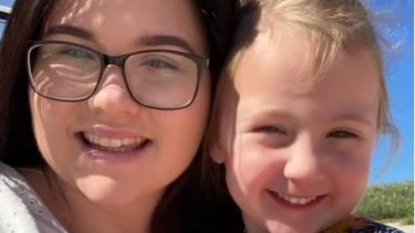 A picture from a video posted by Cleo Smith's mum, Ellie, to TikTok this week.