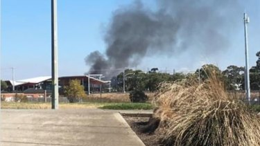 The fire at Smitty's Kitchens & Cabinets in South Morang