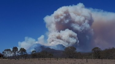 Spicers Peak Resort as bushfires approach and in the aftermath of the Black Summer bushfires.