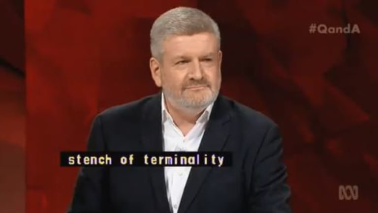 Communications Minister Mitch Fifield was told that his party had lost its way.