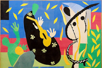 On its way to Sydney:  The Sorrows of the King by Henri Matisse (1952).