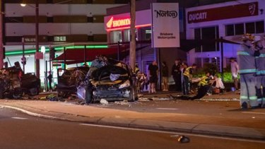Accident at Lutwyche Road, Windsor which killed two men.