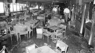 The remains of Brisbane's Whiskey Au Go Go nightclub on St Paul's Terrace on March 8, 1973.