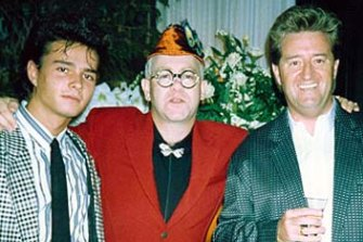 Alexandre Despallieres and Peter Ikin with Elton John.
