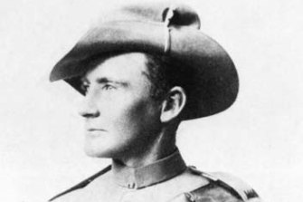 """Private Harry """"Breaker"""" Morant in 1900. He was executed by firing squad two years later."""