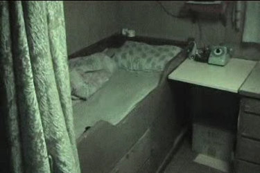 An officer's room on the Pong Su.