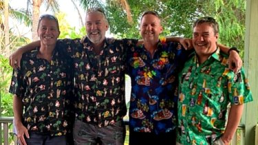 David Harrison (far right) and his three older brothersMichael, Peter, and Warren on Christmas Day, 2019.