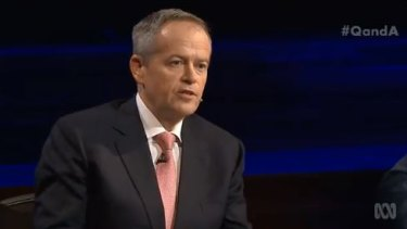 Bill Shorten had a solo appearance on Q&A on Monday night.