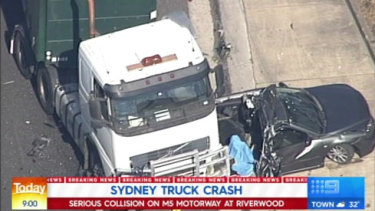 The truck crash on the M5 that resulted in the death of a child.