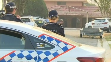 The crime scene in Macbeth Place in Sunnybank Hills in Brisbane's south.