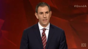 Queensland MP Jim Chalmers was Labor's sacrificial lamb on Monday night.