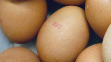 People are being urged to check the shells of any eggs in their kitchen as they may be contaminated with salmonella.