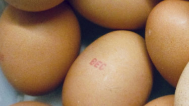 Some of the eggs that were recalled during the salmonella outbreak.