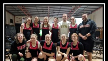 The Melbourne Girls' College weightlifting team.