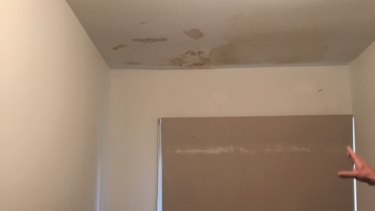 Damp in the roof of the rooming house where Barry* lives in Essendon.