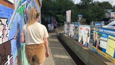 Voters were few and far between at a booth in Mount Gravatt.