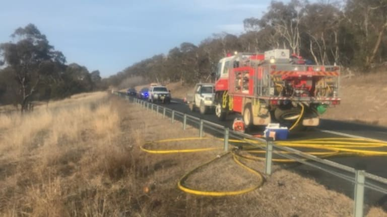 The Monaro Highway was closed after a triple fatality on Wednesday night.