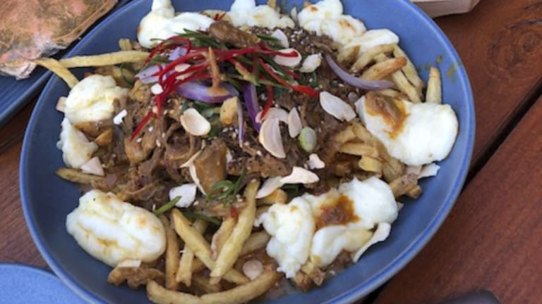The Canadian-inspired rendang poutine was our pick of the dishes.