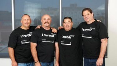 In happier times: CFMEU executive team Derek Christopher, Shaun Reardon, Elias Spernovasilis and John Setka in October last year.